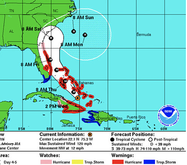 Don hartley latest update on hurricane matthew
