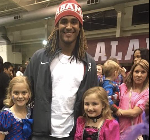 Jalen Hurts with Miss Tuscaloosa, Wild Bill Facebook