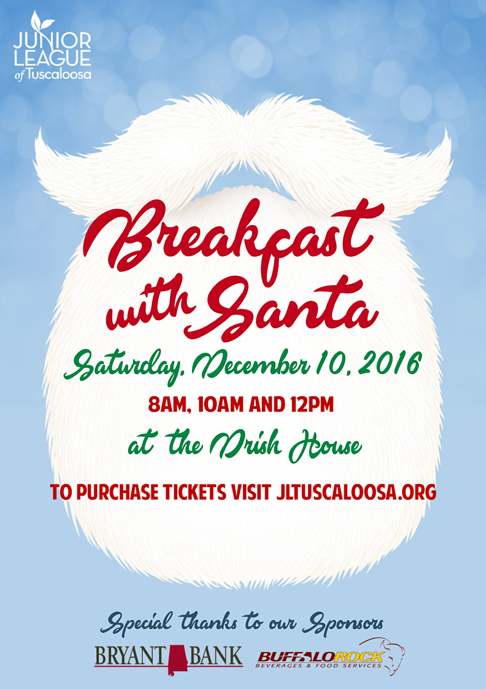 Junior League of Tuscaloosa Hosting Breakfast with Santa