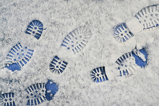 Shoeprints in snow